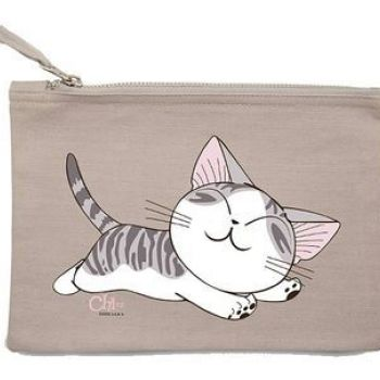 CHI - Cosmetic Case - Chi's lying - Grey