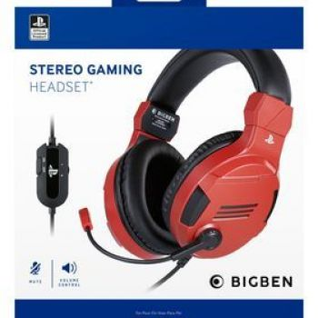 Bigben PS4 Stereo Gaming slusalice v3 Red