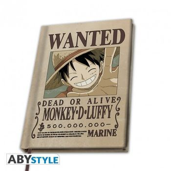 "Bilježnica - ONE PIECE - A5 Notebook ""Wanted Luffy"""