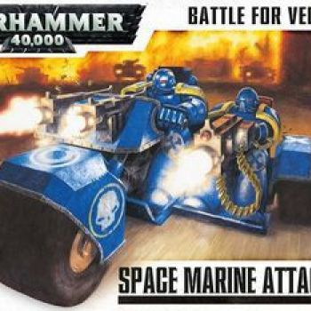 Wh40: Battle For Vedros - Space Marine Attack Bike (Box)